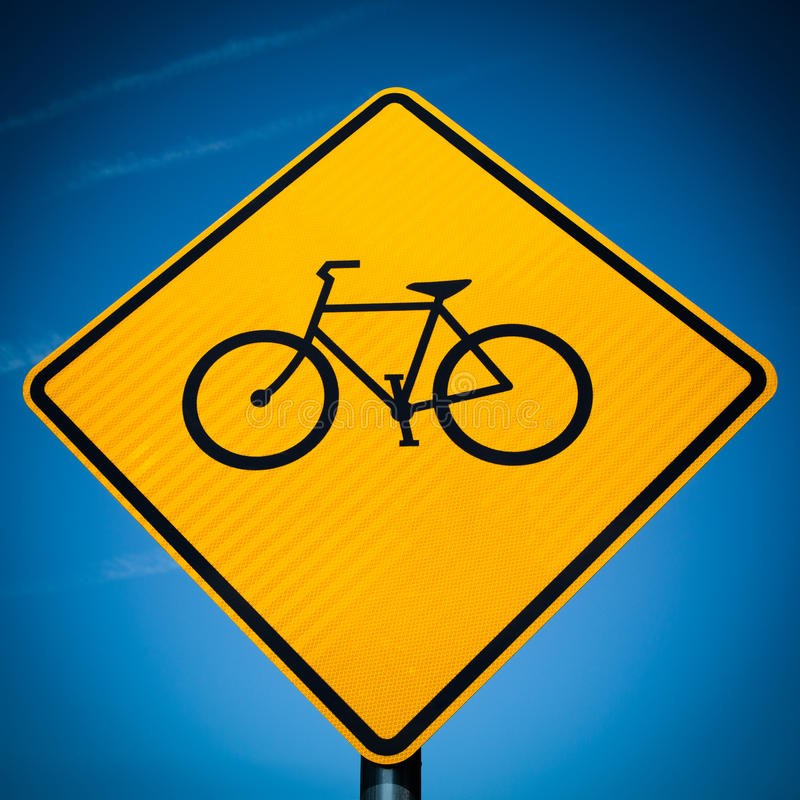 Signe de vélo photo stock