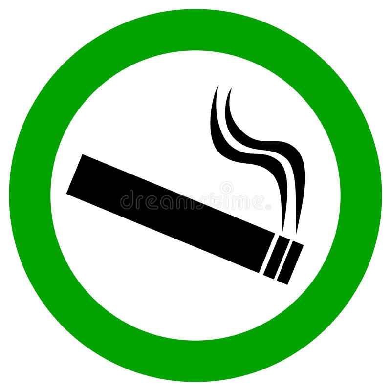 Signe de vecteur de zone fumeur illustration libre de droits
