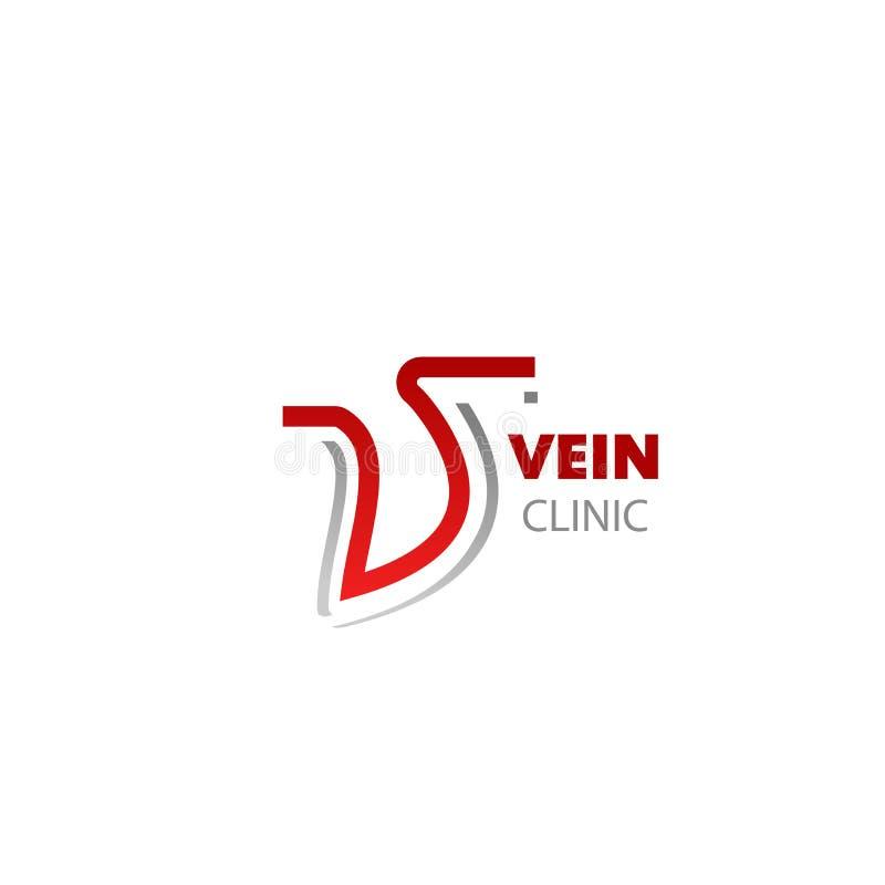 Signe de vecteur pour la clinique de veine illustration libre de droits