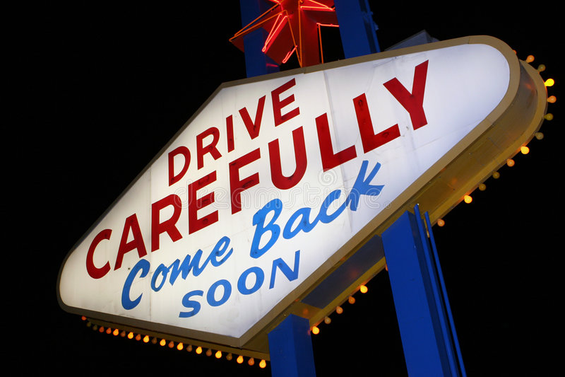 Signe de Vegas photographie stock