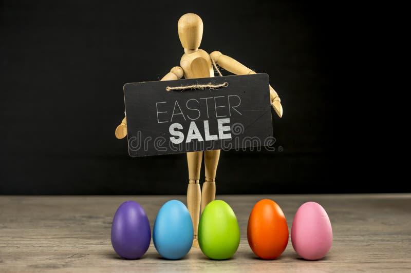 Signe de vente de Pâques photographie stock libre de droits