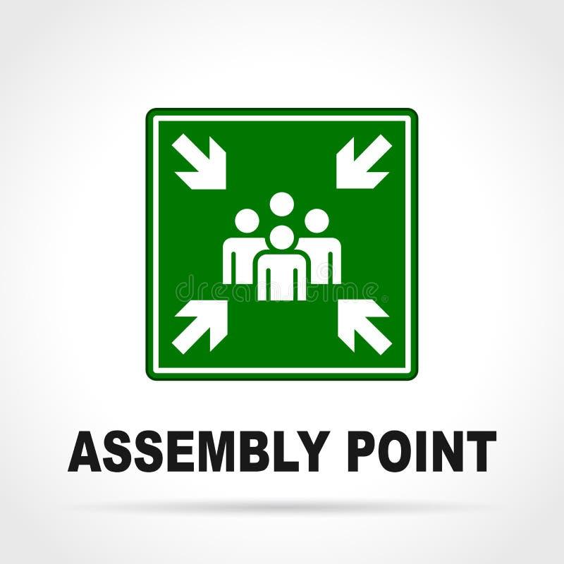 Signe de vert de point d'Assemblée illustration de vecteur