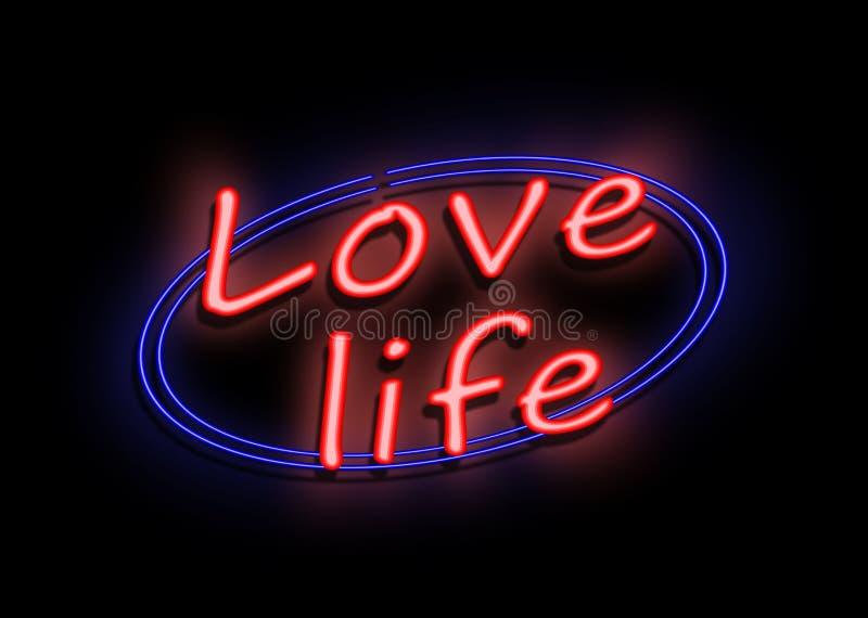 Signe de vie amoureuse illustration stock