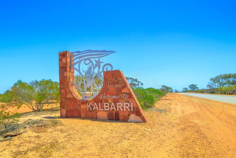 Signe de ville de Kalbarri image stock