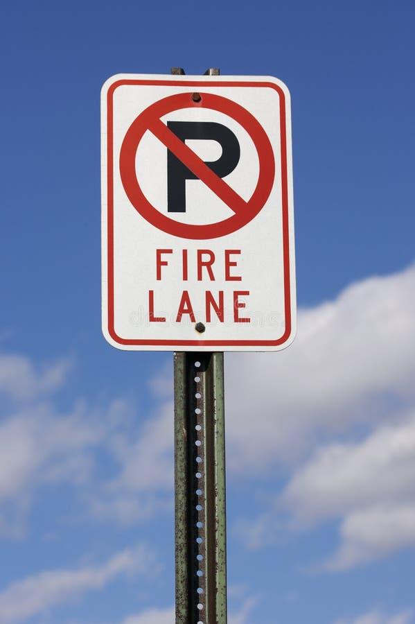Signe de voie d'incendie photo stock