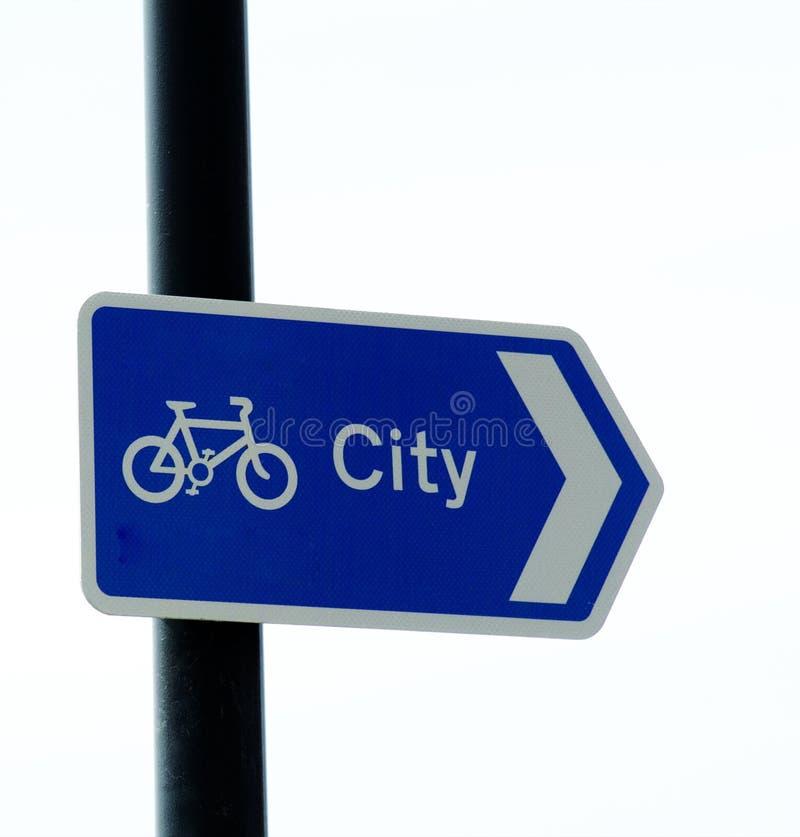 Signe de voie de cycle photos stock