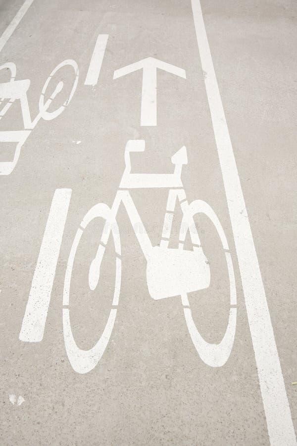 Signe de voie de cyclistes photographie stock libre de droits