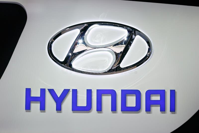 Signe de voiture de Hyundai image stock