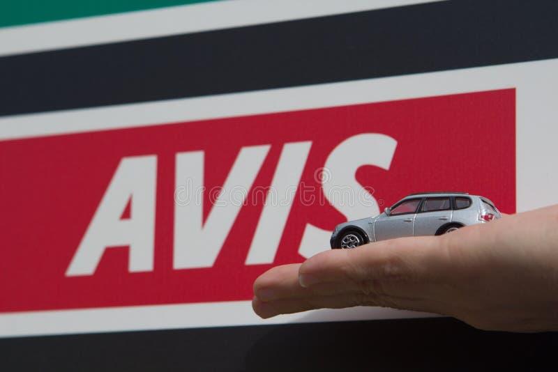 Signe de voiture de location photo libre de droits
