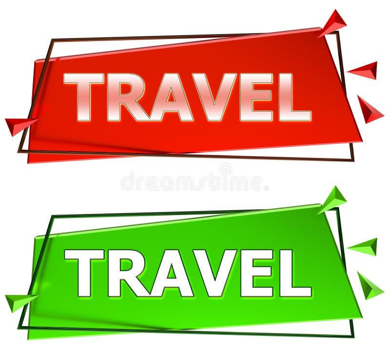 Signe de voyage illustration libre de droits