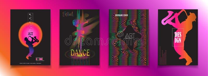 Signe de voyage de festival de danse de musique de jazz illustration stock