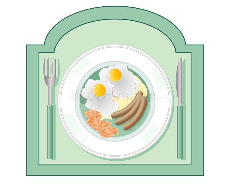 Signe de wagon-restaurant illustration stock