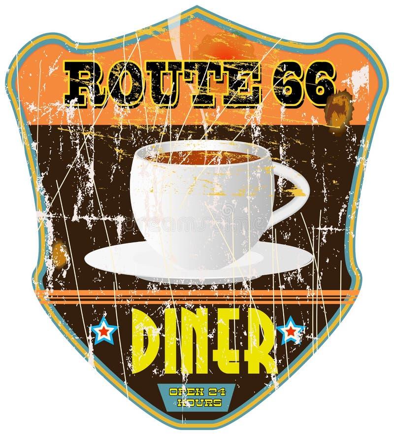 Signe de wagon-restaurant de vintage, illustration libre de droits