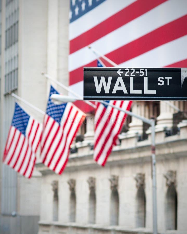 Signe de Wall Street photos libres de droits