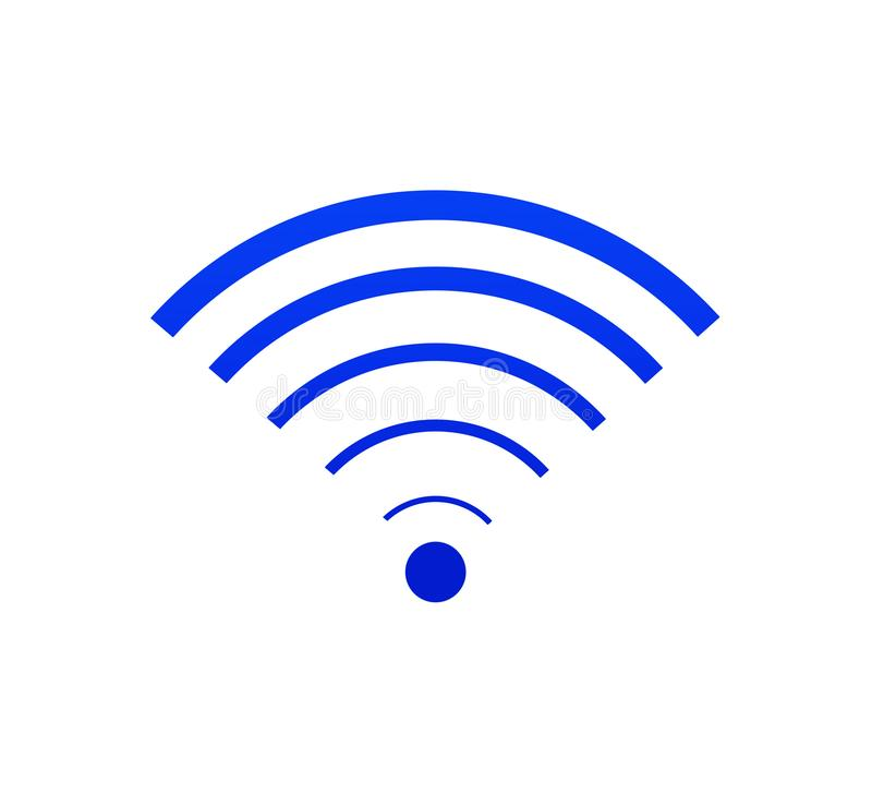 Signe de Wi-Fi, pleine connexion internet photo stock