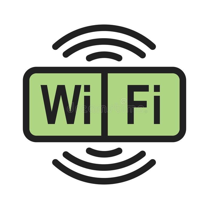Signe de Wifi illustration stock