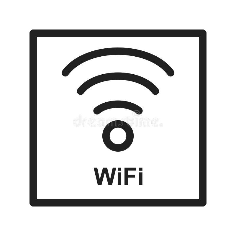 Signe de Wifi illustration libre de droits
