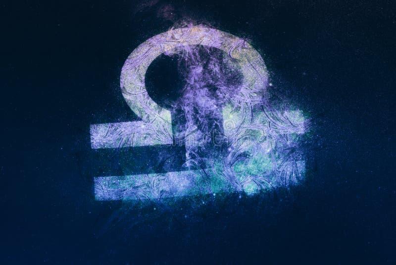 Signe de zodiaque de Balance Fond de ciel nocturne illustration libre de droits