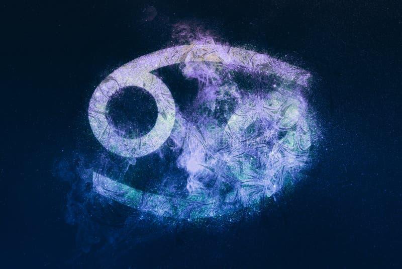 Signe de zodiaque de Cancer Fond de ciel nocturne illustration de vecteur