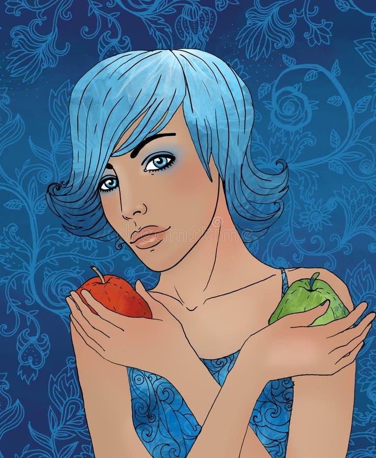 Signe de zodiaque de Balance en tant que belle fille illustration libre de droits