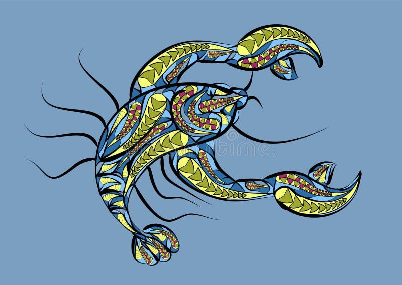 Signe de zodiaque de Cancer illustration stock