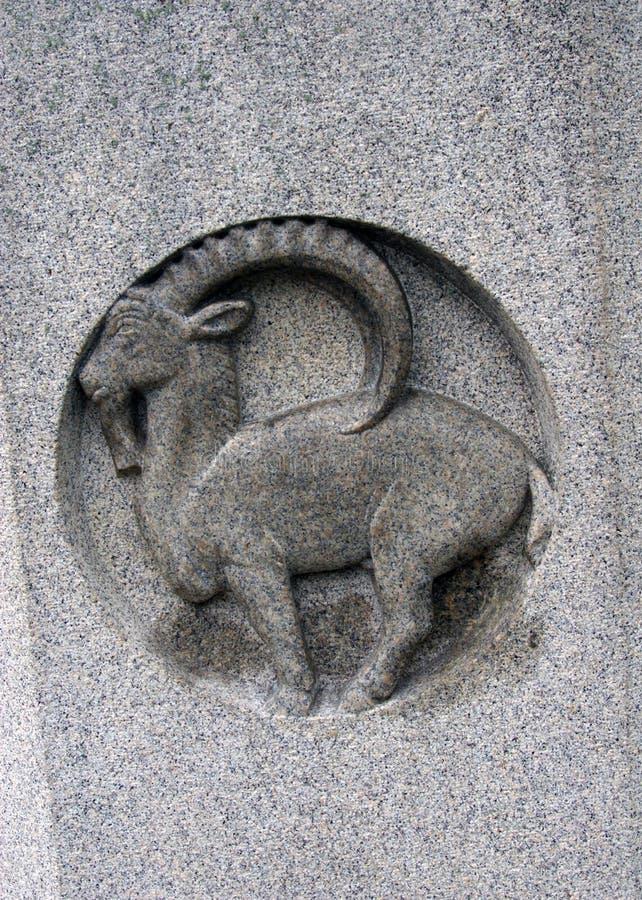 Signe de zodiaque de Capricorne. photos libres de droits