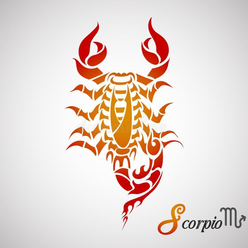 Signe de zodiaque de Scorpion illustration stock