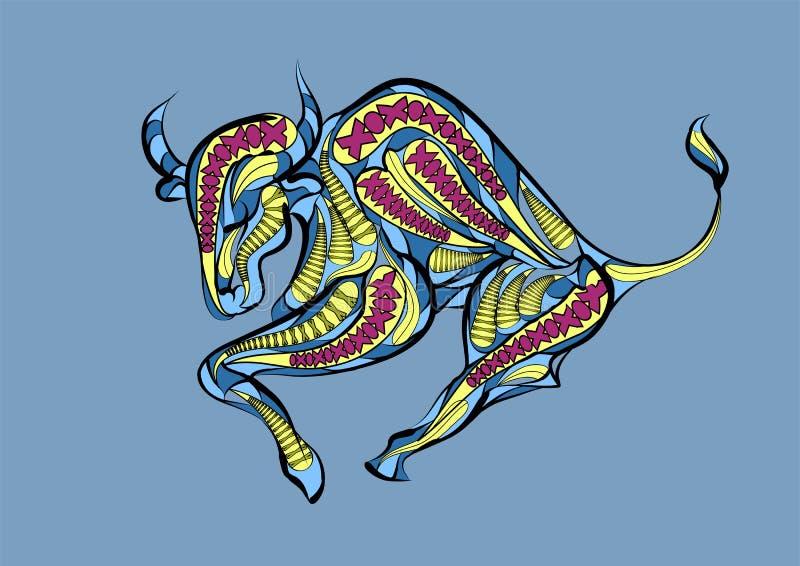 Signe de zodiaque de Taureau illustration libre de droits