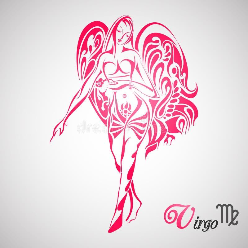 Signe de zodiaque de Vierge illustration libre de droits