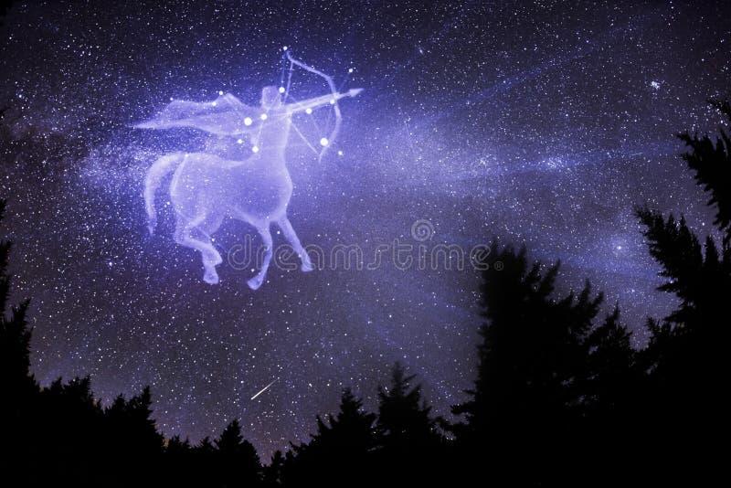 Signe de zodiaque de Sagittaire images stock