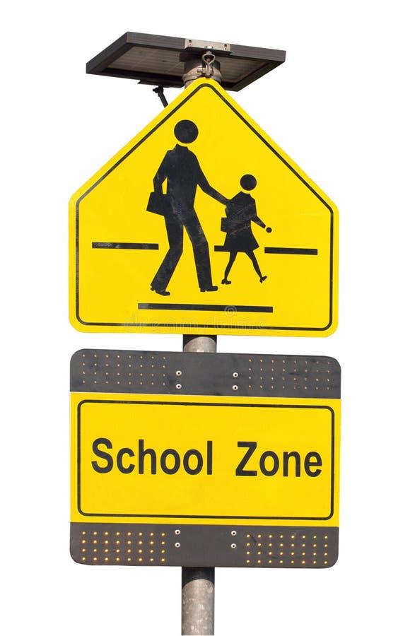 Signe de zone d'école. photographie stock libre de droits