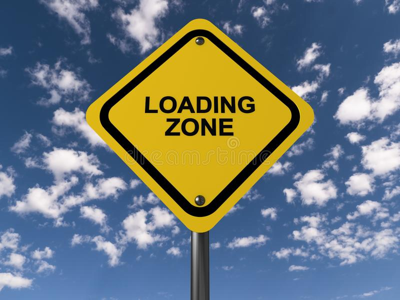 Signe de zone de chargement image libre de droits