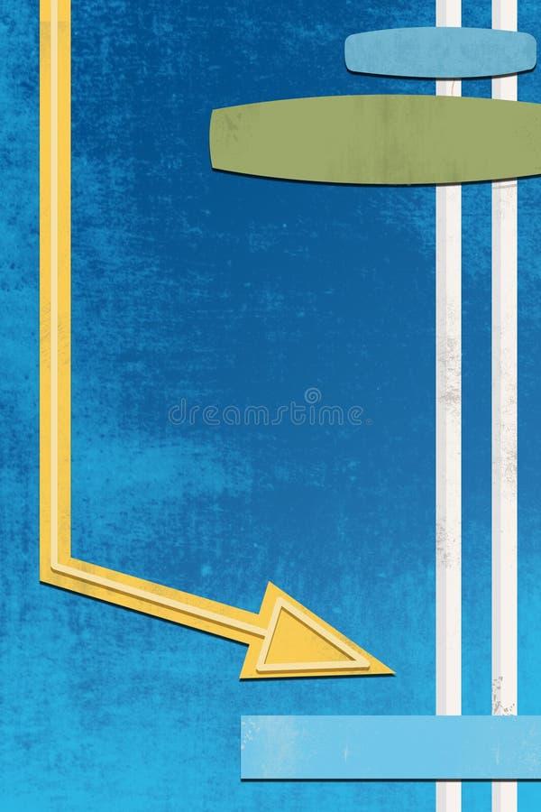 Signe Deconstructed de wagon-restaurant illustration libre de droits