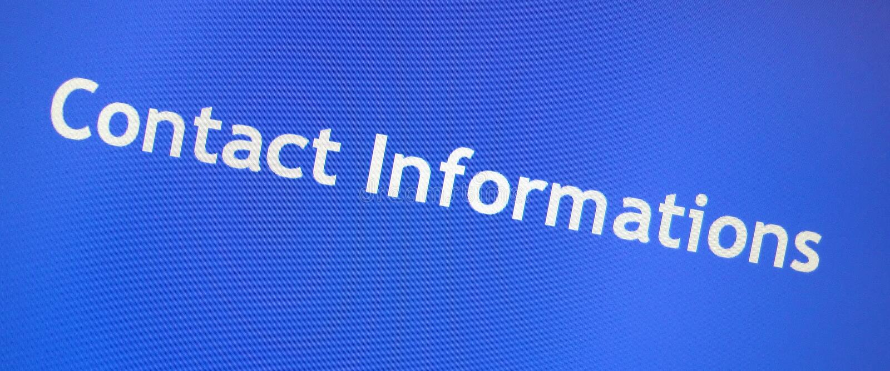 Signe des informations de contact