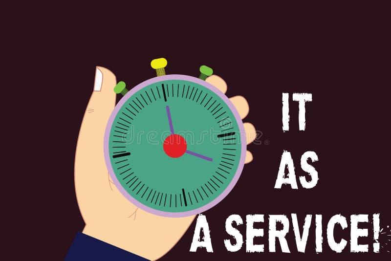 Signe des textes le montrant comme service Technologie de l'information conceptuelle de photo donnant des services à la main d'an illustration de vecteur