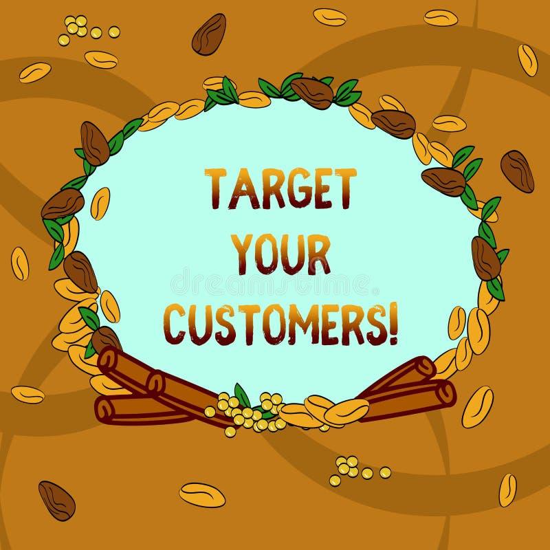 Signe des textes montrant à cible vos clients But conceptuel de photo que ces clients il est le plus susceptible acheter que de v illustration stock