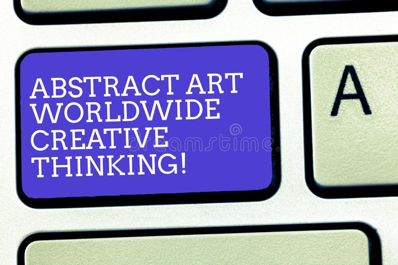 Signe des textes montrant Art Worldwide Creative Thinking abstrait De photo conceptuelle d'inspiration clavier moderne artistique illustration de vecteur