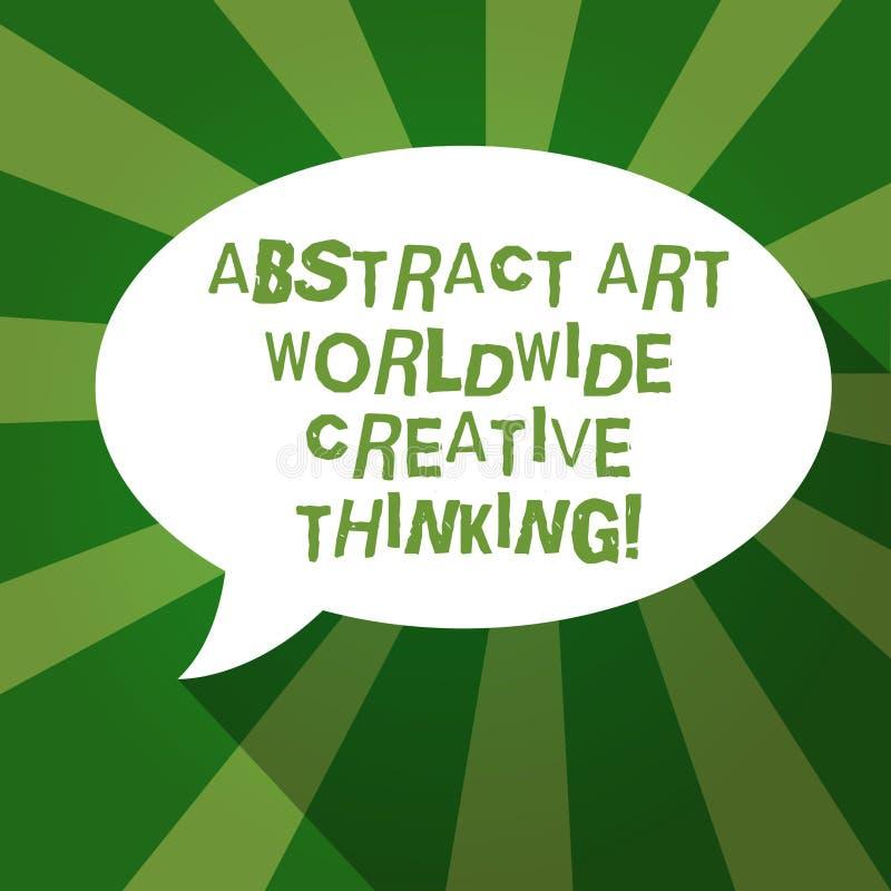 Signe des textes montrant Art Worldwide Creative Thinking abstrait Ovale artistiquement vide moderne d'inspiration de photo conce illustration de vecteur