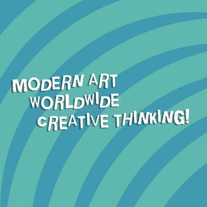 Signe des textes montrant Art Worldwide Creative Thinking moderne Image tramée quarte de cercle de photo d'expressions artistique illustration stock