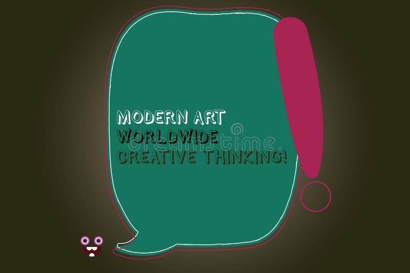 Signe des textes montrant Art Worldwide Creative Thinking moderne Les expressions artistiques de créativité conceptuelle de photo illustration de vecteur