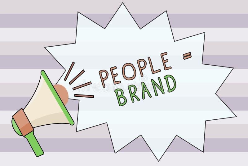 Signe des textes montrant aux gens la marque égale Personnalité de définition de marquage à chaud personnelle de photo conceptuel illustration de vecteur