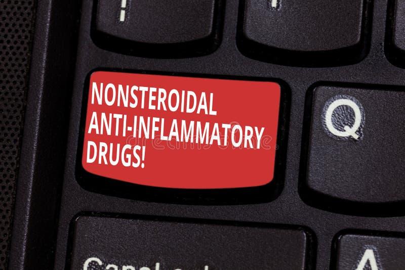 Signe des textes montrant d'anti drogues inflammatoires Nonsteroidal Classe conceptuelle de photo de la médecine qui réduit le cl photo stock