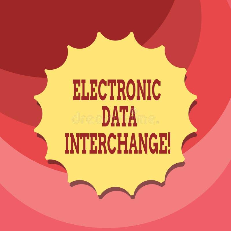 Signe des textes montrant l'échange de données électroniques Transfert conceptuel de photo des données à partir d'un ordinateur d illustration stock