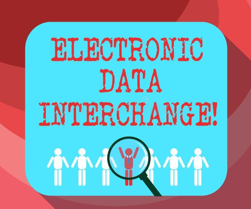 Signe des textes montrant l'échange de données électroniques Transfert conceptuel de photo des données à partir d'un ordinateur d illustration libre de droits