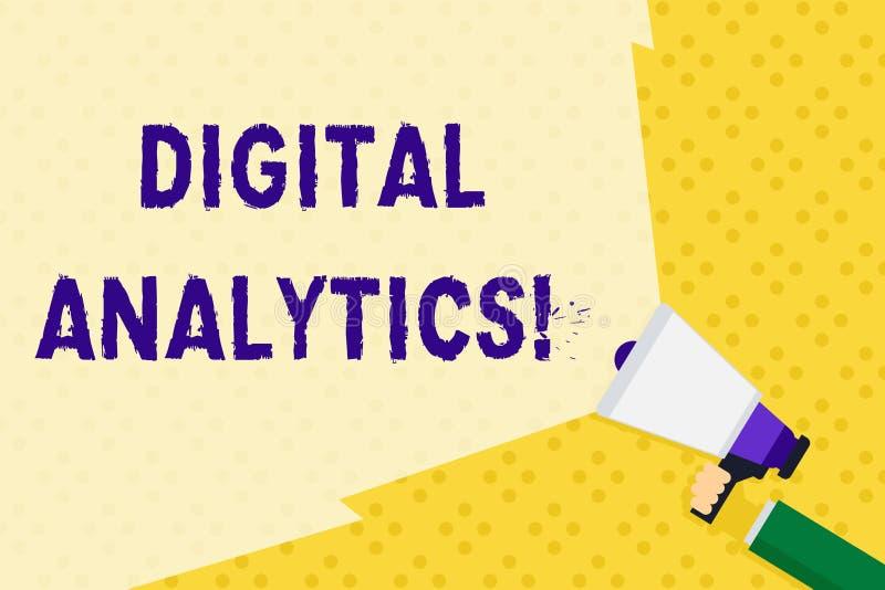 Signe des textes montrant l'Analytics de Digital Photo conceptuelle l'analyse de la participation qualitative et quantitative de  illustration stock