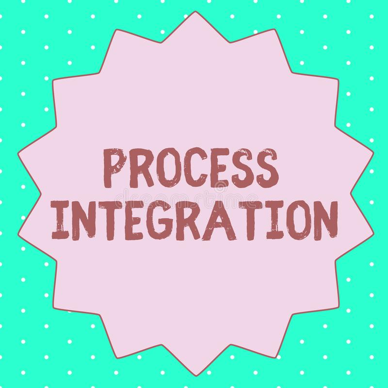 Signe des textes montrant l'intégration de processus Connectivité conceptuelle de photo des services et de l'information de systè illustration stock