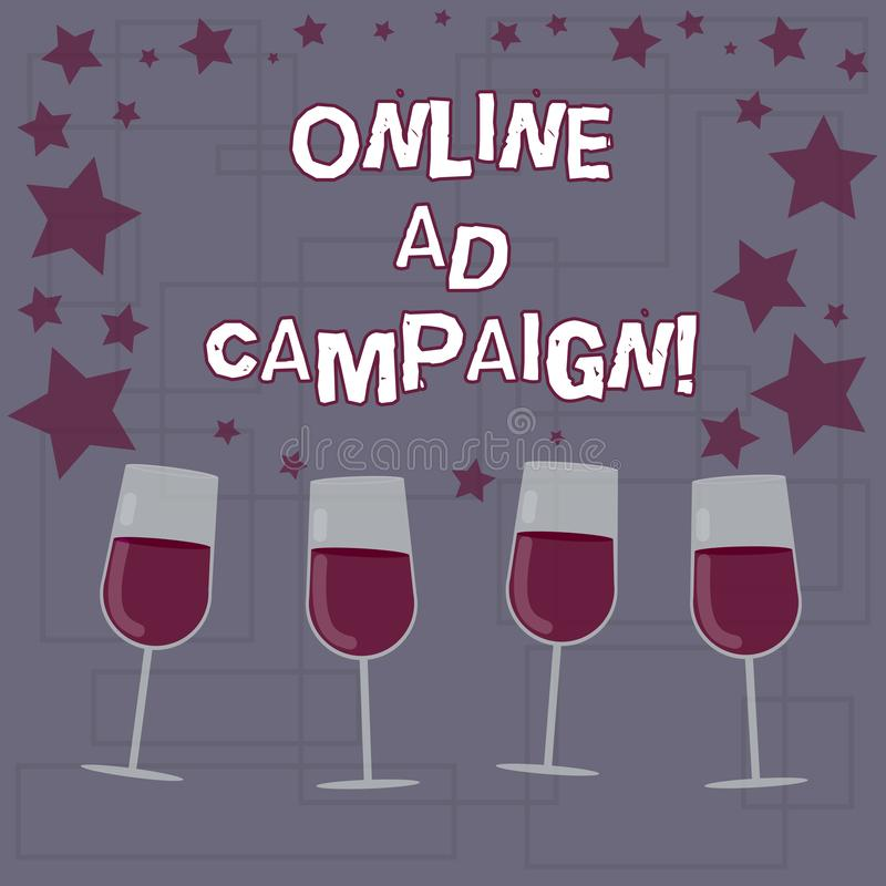Signe des textes montrant la campagne publicitaire en ligne L'effort marketing conceptuel de photo proposé par engagement d'entra illustration libre de droits