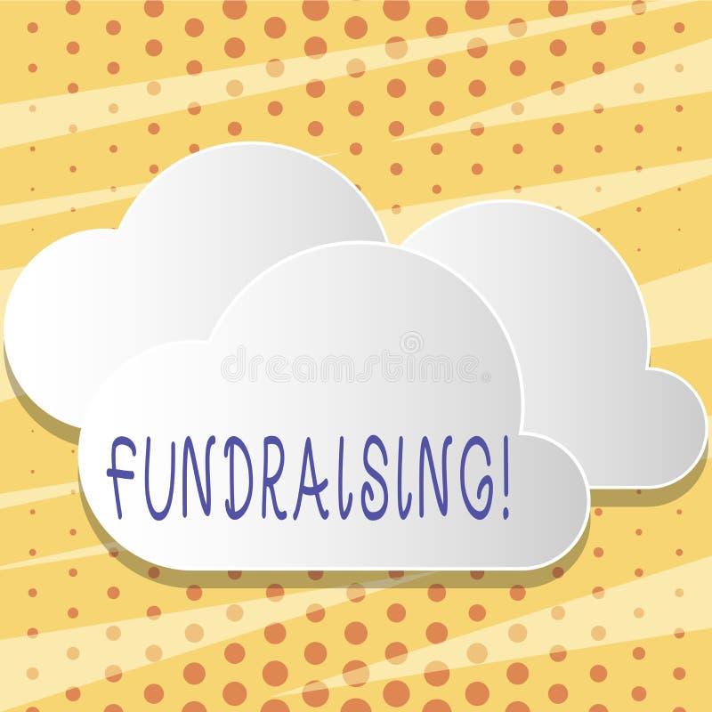 Signe des textes montrant la collecte de fonds La recherche conceptuelle de photo de l'aide financière pour la cause de charité o illustration stock