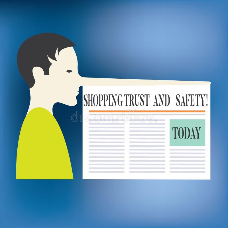 Signe des textes montrant la confiance et la sécurité de achat E illustration de vecteur