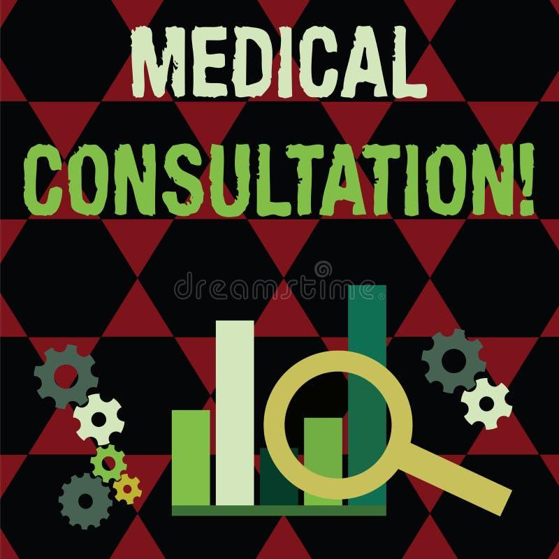 Signe des textes montrant la consultation médicale Photo conceptuelle un rendu d'avis médical ou d'opinion professionnelle illustration libre de droits
